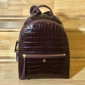🔥NWT Tory Burch Croc-Embossed Mini Backpack